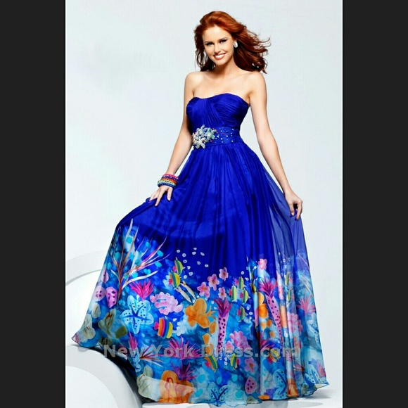 40 off sherri hill dresses amp skirts royal blue sherri