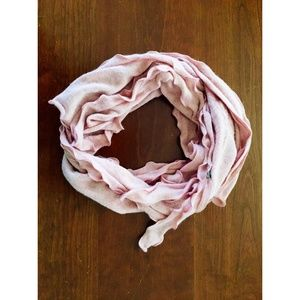 Accessories - Pink Ruffle Scarf with rose
