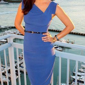 Black Halo Dresses - Black Halo Jackie O Blue dress Size 4