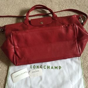Find Best Light Longchamp Embroidered Backpack Red