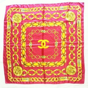 CHANEL LARGE FUSCHIA PINK SCARF