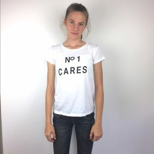No One Cares Short Sleeve Graphic Tee Shirt