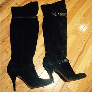 Sexy suede Over-the-Knee boots