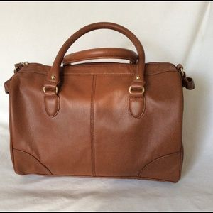 New tan faux leather bag