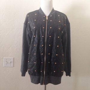Forever 21 Faux Leather Studded Jacket