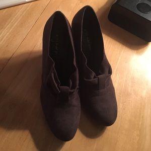 Brown heels, almost booties