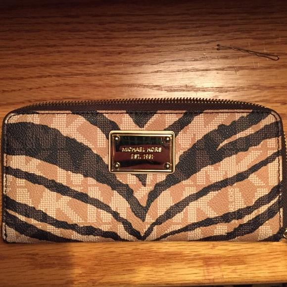 6393afaf266a3b MICHAEL Michael Kors Bags | Michael Kors Zebra Wallet | Poshmark