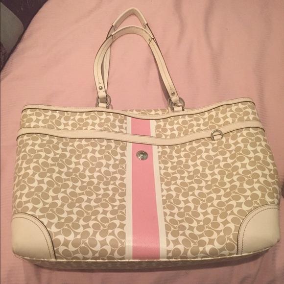 77 Off Coach Handbags Brand New Coach Baby Bag Pink