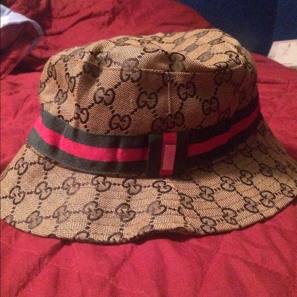 de8d98ce Gucci Jackets & Coats | Brown Gr Bucket Hat | Poshmark