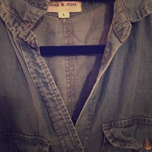Anthropologie Cloth and Stone Denim Shirt