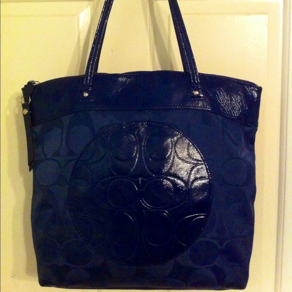Coach Bags - Royal Blue Coach Tote Bag