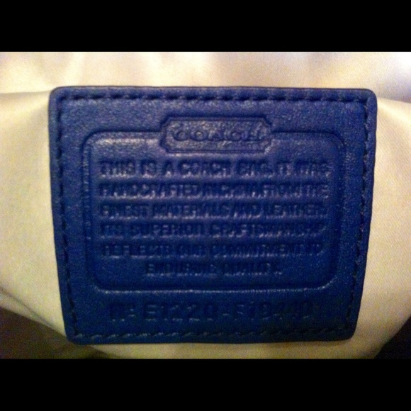Coach Bags - Royal Blue Coach Tote Bag 4