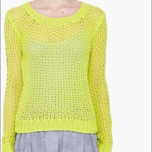 Neon yellow knitted sweater