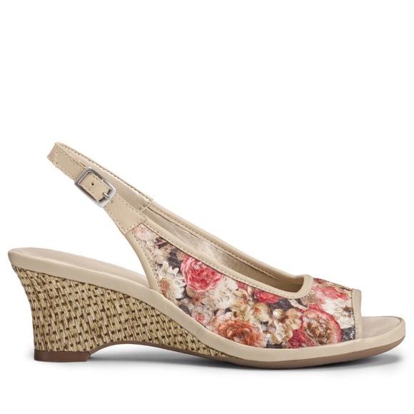 bb0dde2b2e AEROSOLES Shoes | Dozen Roses Slingback Sandal | Poshmark