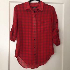 Madewell Tops - Madewell Silk Plaid Shirt