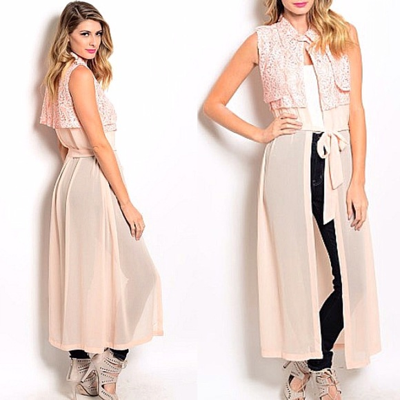 f9f84a2154 Pastel kimono overcoat style front tie maxi dress