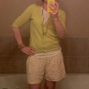 Ella Moss cream lace shorts
