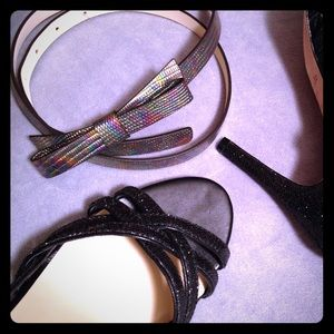 Kate Spade Oil Slick Embossed Bow Belt PSRU1674