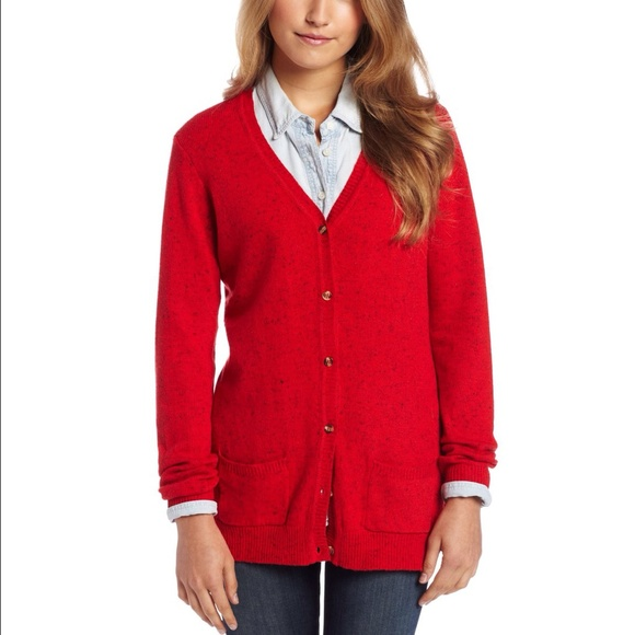 90% off US Polo Assn Sweaters - 📦 NWOT Red Boyfriend Cardigan ...