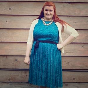 Adrianna Papell Dresses & Skirts - ⬇️ Blue Lace Dress (Plus Size)