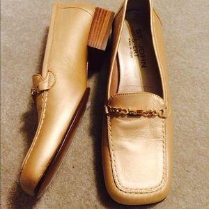 St. John Shoes - St John Gold Loafers