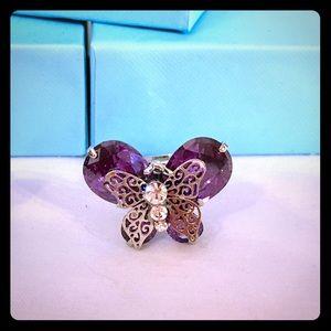 HP💍Platinum Purple Swarovski Butterfly Ring