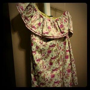 One shouldered floral dress