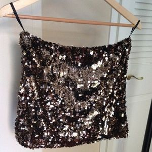 Nasty Gal Ark&Co sequin mini skirt