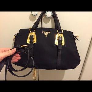 prada mens wallets online - 65% off Prada Handbags - Authentic Prada Handbag Silver hardware ...