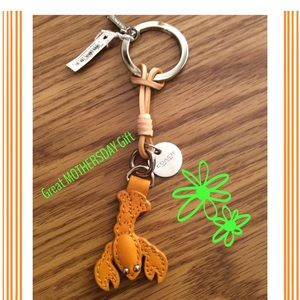 COACH AUTHENTIC LOBSTER LEATHER KEYCHAIN