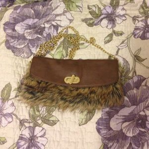 Faux fur Old Navy purse