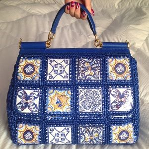 Dolce & Gabbana Miss Sicily Embroidered Tile Bag