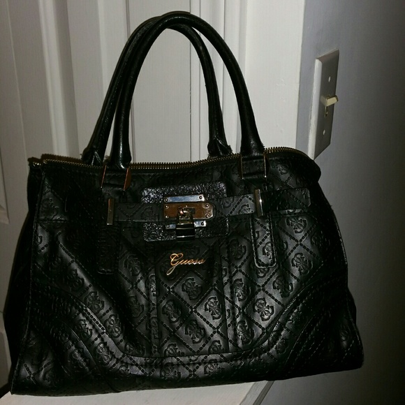b836b980486 Guess Bags   Genuine Leather Black Bag   Poshmark