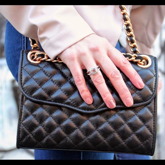 Rebecca minkoff mini affair bag - black/rose gold