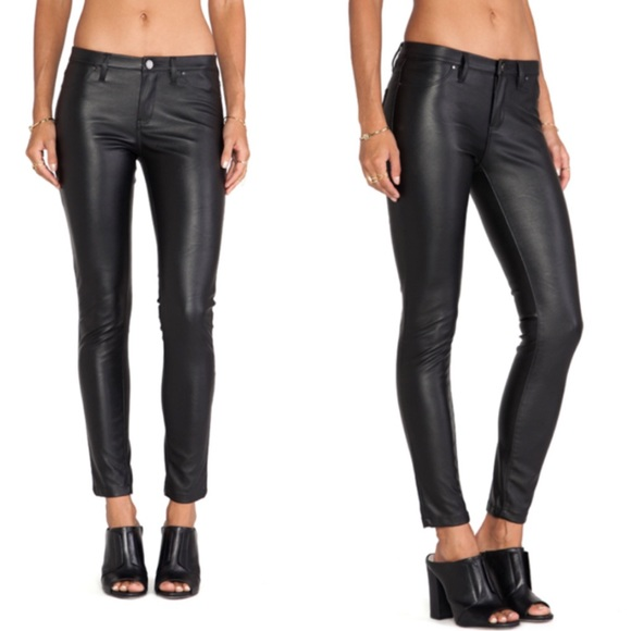 I was really impressed with the quality of the vegan leather -- it doesn't squeak like most faux leather and it looks expensive. It's also lined, which is nice. My problem with them was with the rise. These were seriously so low, I didn't know they still made pants this low. Think Britney Spears I'm .