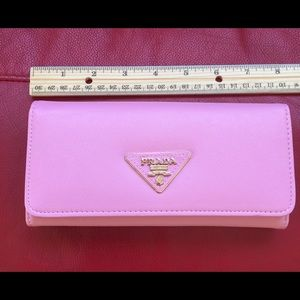 Clutches & Wallets - Light pink saffiano wallet Prada***ON HOLD****