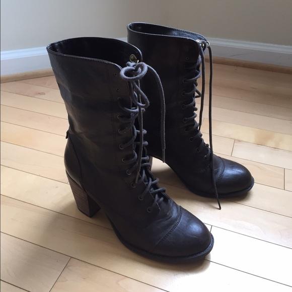 68 diba boots diba brown combat boots size