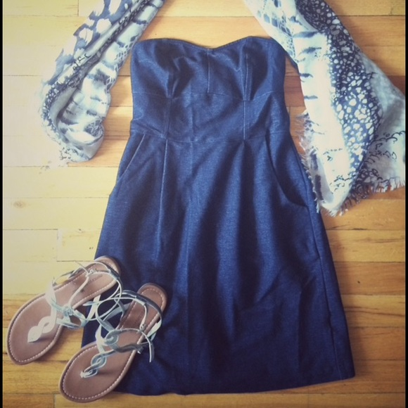 Denim tulip dress