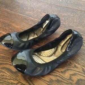 Shoes - Black Flex Comfort Flats Y5