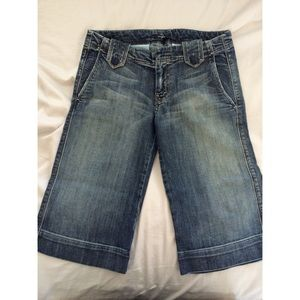 7 for all Mankind long denim shorts.