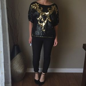 Sequin Embellished Dressy Top
