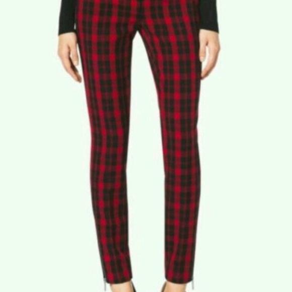 72% off Michael Kors Pants - Michael Kors plaid skinny pants ...
