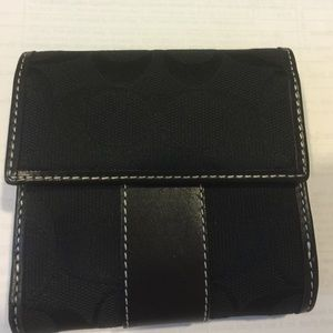 New Authentic Coach trifold wallet