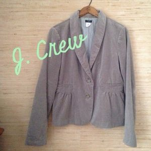 J. Crew Jackets & Blazers - JCrew Velvet Eden Blazer Harbor Grey