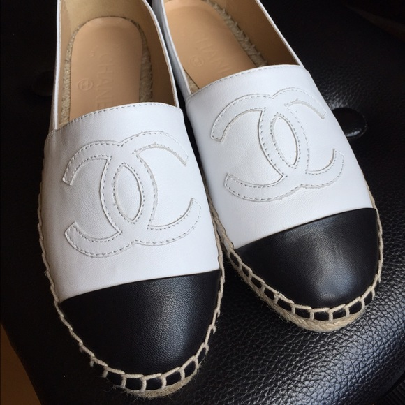 CHANEL Shoes | Auth Chanel Black White