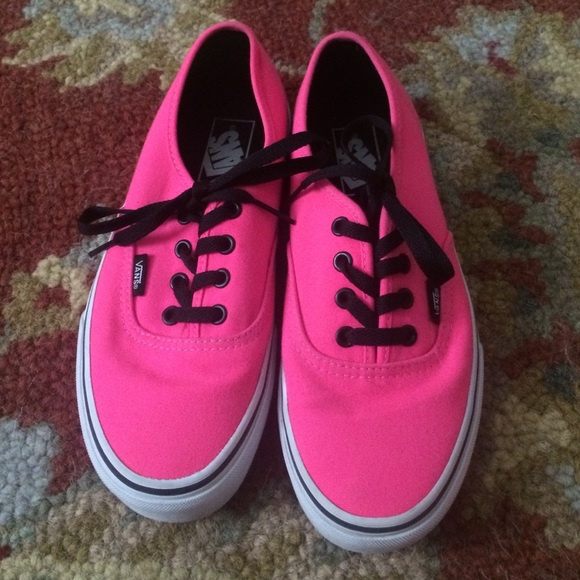 75b77dea0caa70 Hot pink vans with black laces. M 5543fe377e7ef64284005dbc. Other Shoes ...