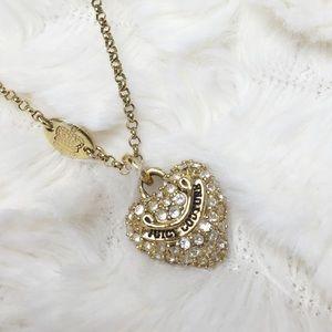 Juicy Couture Pave Heart Necklace Pendant