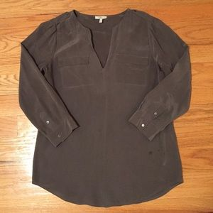 Joie Grey Silk top