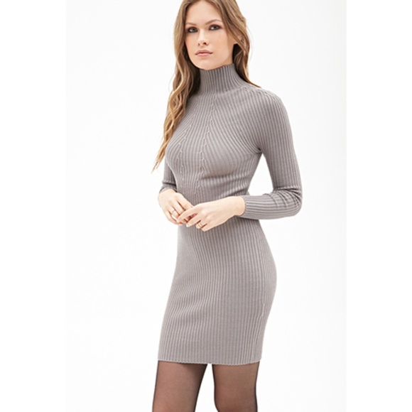 13% off Forever 21 Dresses & Skirts - High neck ribbed sweater ...