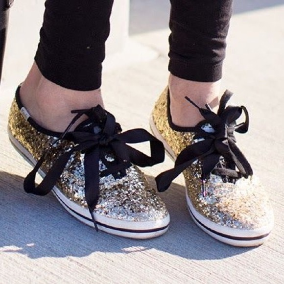 ce4c5516d77 kate spade Shoes - Keds Kate Spade gold glitter shoes